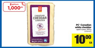 PC Canadian White Cheddar - 300 g