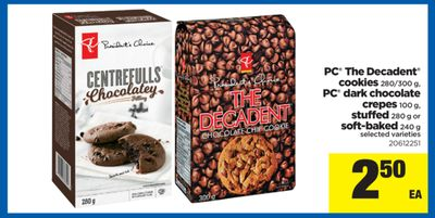 PC The Decadent Cookies - 280/300 g - PC Dark Chocolate - Crepes 100 g - Stuffed - 280 g Or Soft-baked - 240 g