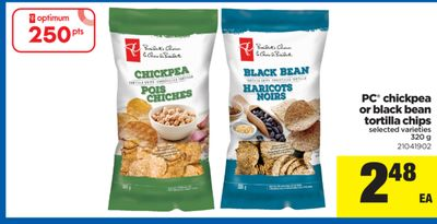PC Chickpea Or Black Bean Tortilla Chips - 320 g