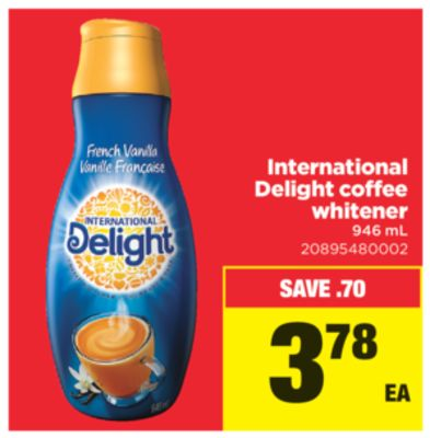 International Delight Coffee Whitener - 946 mL