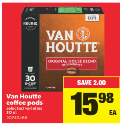 Van Houtte Coffee PODS - 30 Ct