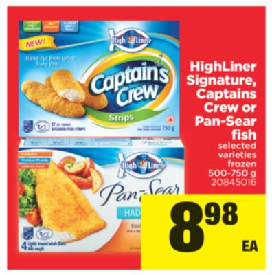 Highliner Signature - Captains Crew Or Pan-sear Fish - 500-750 g