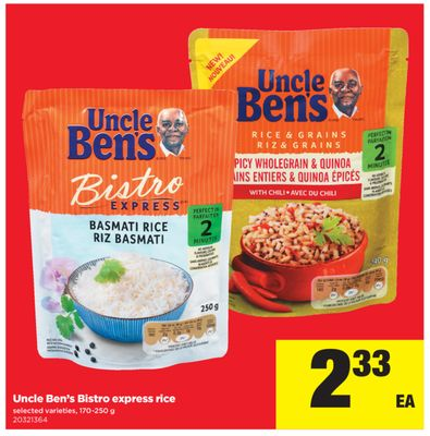 Uncle Ben's Bistro Express Rice - 170-250 g