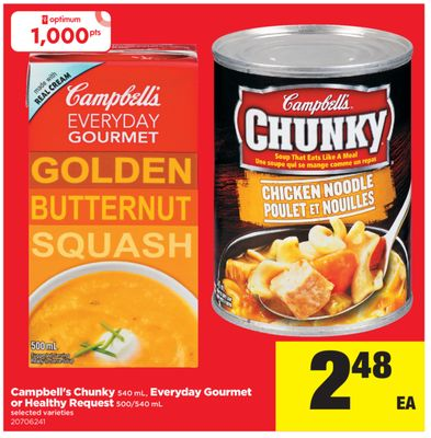 Campbell's Chunky - 540 mL - Everyday Gourmet Or Healthy Request - 500/540 mL