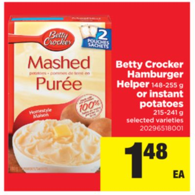 Betty Crocker Hamburger Helper - 148-255 g Or Instant Potatoes - 215-241 g