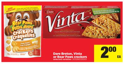 Dare Breton - Vinta Or Bear Paws Crackers