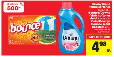 Downy Liquid Fabric Softener - 1.23 L/1.53 L - Bounce/downy Fabric Softener Sheets - 66-120's Or Gain/downy/ Bounce Scent Boosters - 275 g