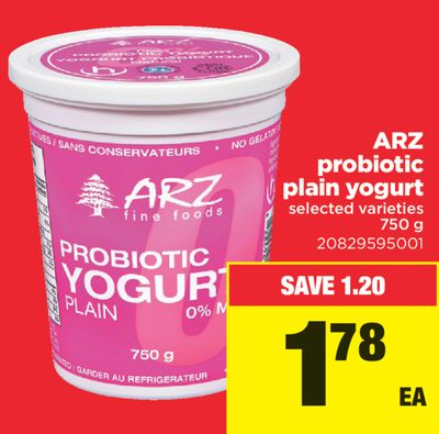 Arz Probiotic Plain Yogurt - 750 g