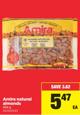 Amira Natural Almonds - 454 g