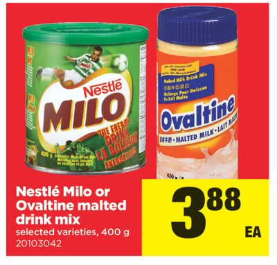 Nestlé Milo Or Ovaltine Malted Drink Mix - 400 g
