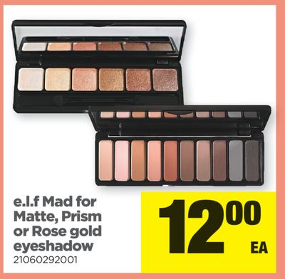E.l.f Mad For Matte - Prism Or Rose Gold Eyeshadow