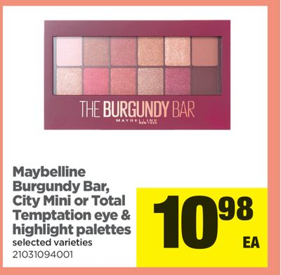 Maybelline Burgundy Bar - City Mini Or Total Temptation Eye & Highlight Palettes