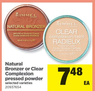Natural Bronzer Or Clear Complexion Pressed Powder