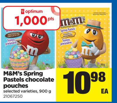 M&m's Spring Pastels Chocolate Pouches - 900 g