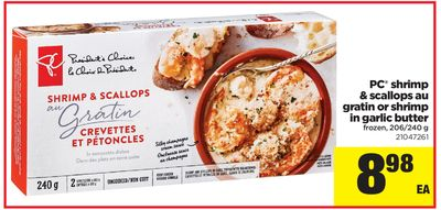 PC Shrimp & Scallops Au Gratin Or Shrimp In Garlic Butter - 206/240 g