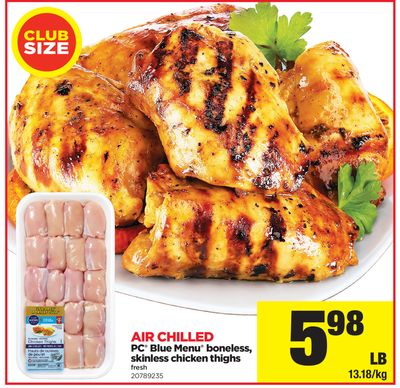 PC Blue Menu Boneless - Skinless Chicken Thighs
