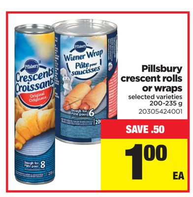 Pillsbury Crescent Rolls Or Wraps - 200-235 g