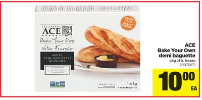 Ace Bake Your Own Demi Baguette - Pkg of 8