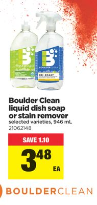Boulder Clean Liquid Dish Soap Or Stain Remover - 946 mL