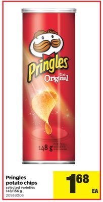 Pringles Potato Chips - 148/156 g