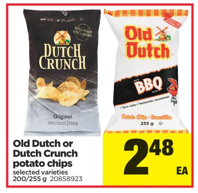 Old Dutch Or Dutch Crunch Potato Chips - 200/255 g