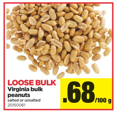 Virginia Bulk Peanuts Salted Or Unsalted