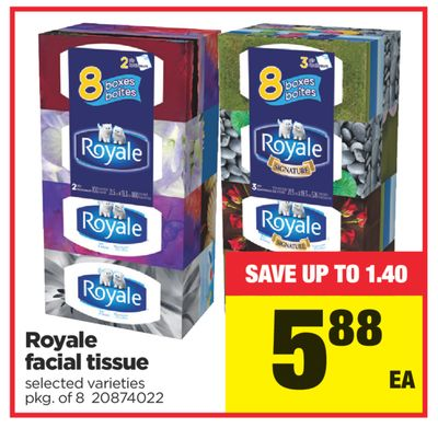 Royale Facial Tissue - Pkg of 8