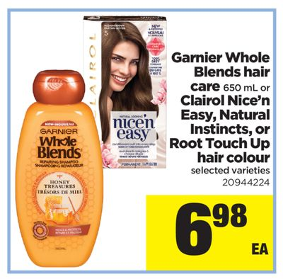 Garnier Whole Blends Hair Care 650 Ml Or Clairol Nice'n Easy - Natural Instincts - Or Root Touch Up Hair Colour