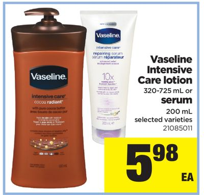 Vaseline Intensive Care Lotion - 320-725 mL or Serum - 200 mL