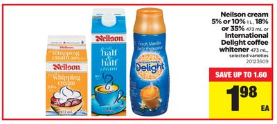 Neilson Cream 5% Or 10% .1 L - 18% Or 35% - 473 Ml Or International Delight Coffee Whitener - 473 Ml