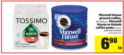 Maxwell House Ground Coffee - 631-925 g or Maxwell House Or Nabob Coffee PODS 8-16 Ct