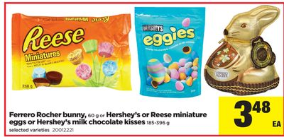 Ferrero Rocher Bunny - 60 G Or Hershey's Or Reese Miniature Eggs Or Hershey's Milk Chocolate Kisses 185-396 G