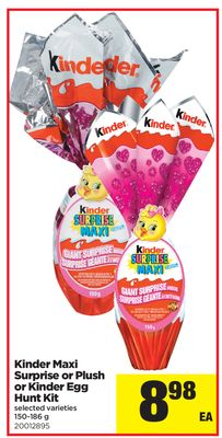 Kinder Maxi Surprise Or Plush Or Kinder Egg Hunt Kit - 150-186 g