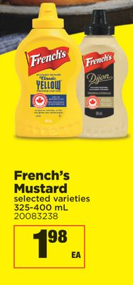 French's Mustard - 325-400 mL