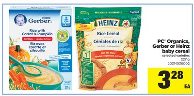 PC Organics - Gerber Or Heinz Baby Cereal - 227 g