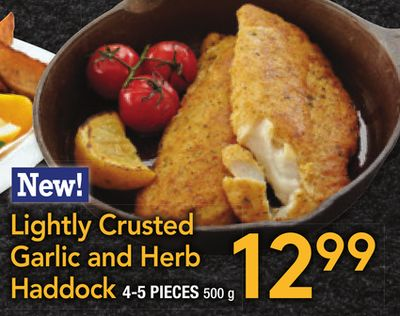 Lightly Crusted Garlic and Herb Haddock