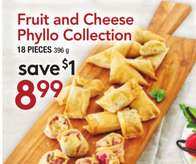 Fruit and Cheese Phyllo Collection
