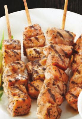 Maple Salmon Skewers