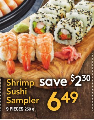 Shrimp Sushi Sampler