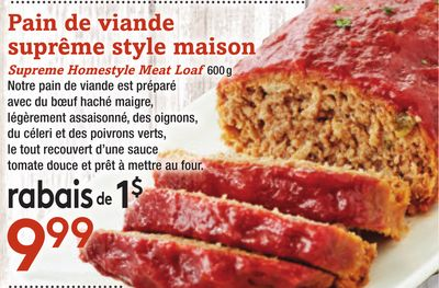 Supreme Homestyle Meat Loaf