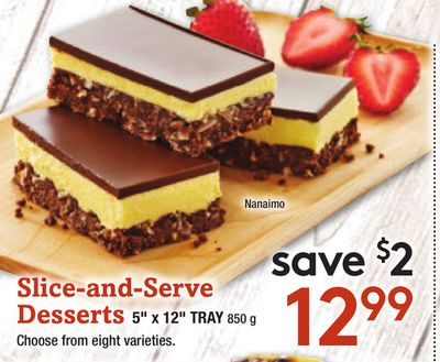 Slice-and-serve Desserts