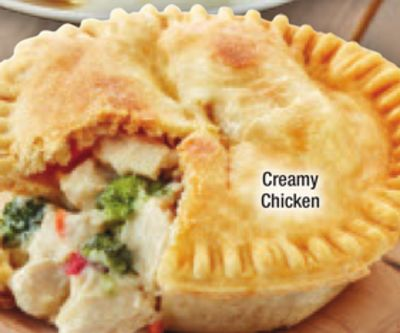 Microwaveable Chicken Pies