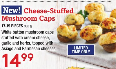 Cheese-stuffed Mushroom Caps