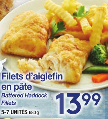 Battered Haddock Fillets