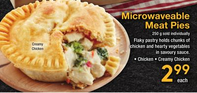 Creamy Chicken Microwaveable Meat Pies