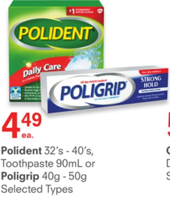Polident or Poligrip