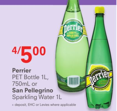 Perrier or San Pellegrino