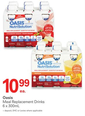 Oasis Meal Replacement Drinks