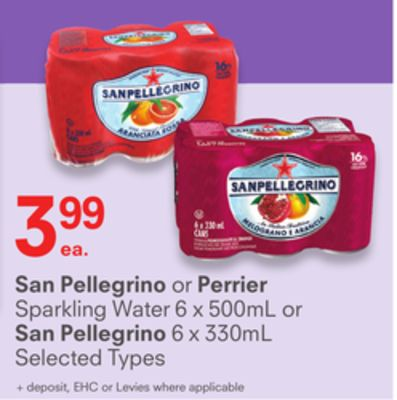 San Pellegrino or Perrier.