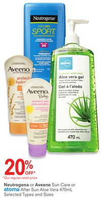 Neutrogena or Aveeno Or Atoma